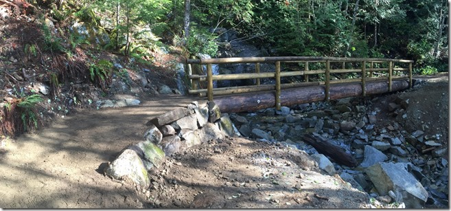 Mason Creek bridge approach Completed